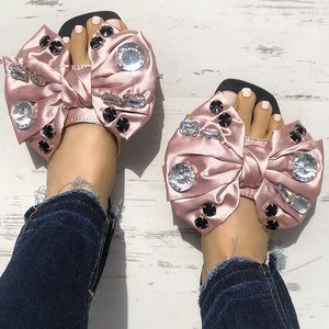 Shoes - Big Bling Bow sandals